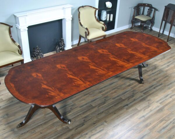 English Style Large Mahogany Extension Table - 139