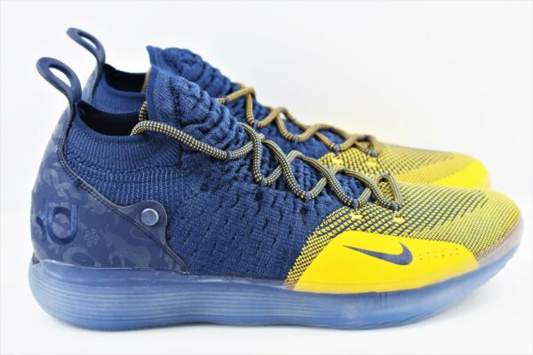 Nike Zoom KD 11 Mens Size 14 Basketball Shoes Michigan College Navy AO2604 400
