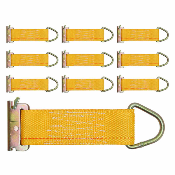 10 PK E Track Tie Off Rope Cargo Down Straps Fitting Enclosed Trailer 3300 Lbs $29.99