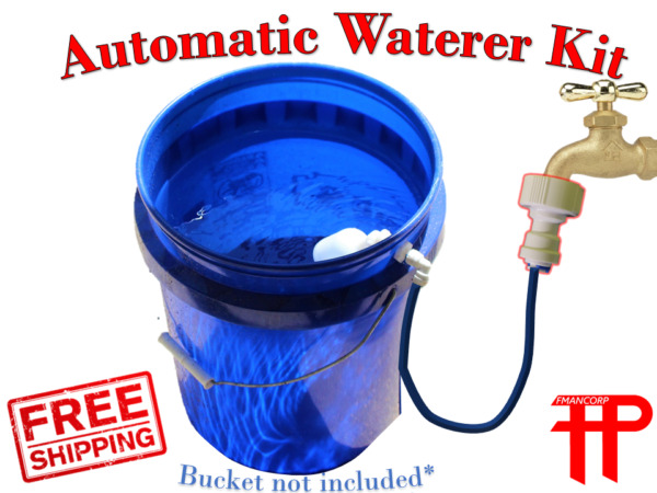Build Kit for Automatic Dog Waterer Self filling Never Empty Pet Water Bowl $19.95