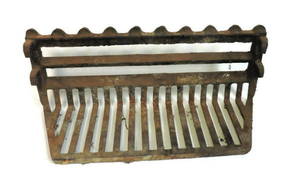 ANTIQUE Cast Iron Fireplace Grate Insert Log Holder