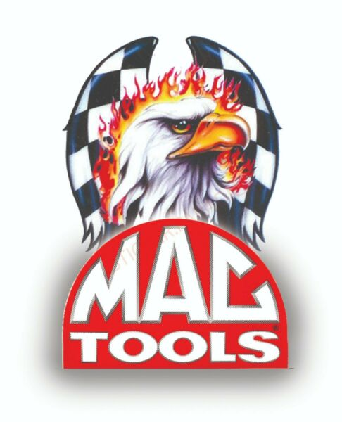 MAC TOOLS EAGLE ONE USA SEXY GIRL DECAL MECHANIC TOOLBOX SIGN TIN CHEST USA