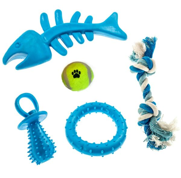 Dog Rope Toys 5 Pack Set Pet Puppy Teething Chew Tug Assortment for Dogs Breeds