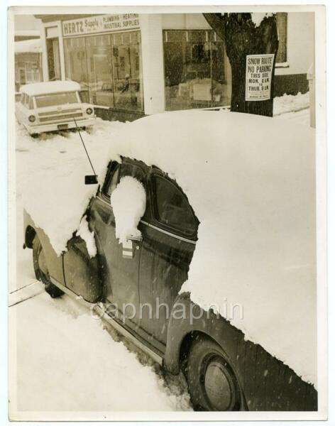 Snow Covered 1946 Chevrolet Car Traffic Ticket ALLENTOWN PA Vintage Photo