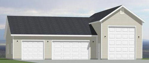 54x40 1 RV 3 Car Garage 1944 sq ft PDF Floor Plan $29.99