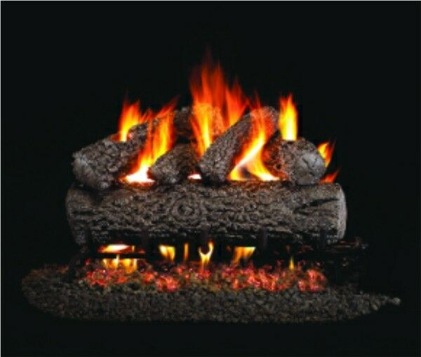 Ventis Allegheny Oak Vented Gas Logs 18quot; Natural Gas
