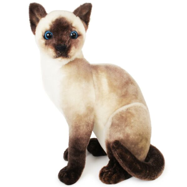 Stefan the Siamese Cat  14 Inch Stuffed Animal Plush  By Tiger Tale Toys $16.99