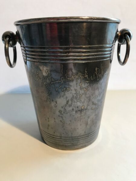 Christofle FRANCE Silverplate Champagne Cooler Ice Bucket Barware Pail