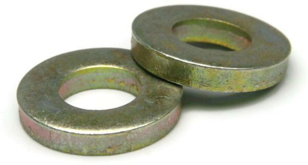 Extra Thick Flat Washers Grade 8 Yellow Zinc - USA Made SAE Inch Sizes