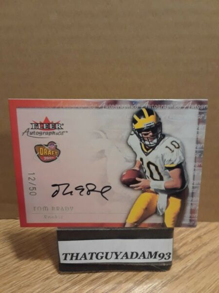 2000 FLEER AUTOGRAPHICS AUTO TOM BRADY ROOKIE REPRINT  SERIAL#1250😎