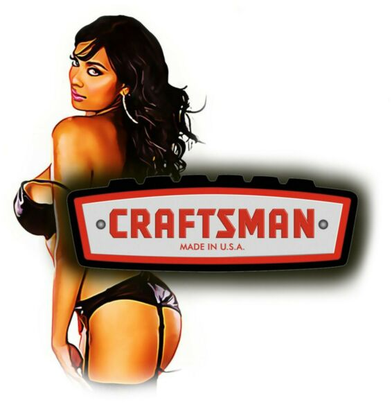 CRAFTSMAN TOOL STICKER LACY SEXY PINUP TOOLS VINTAGE DECAL MECHANIC TOOL BOX USA