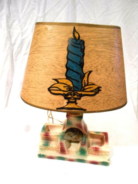 Mid Century TV Lamp Outdoor Fireplace