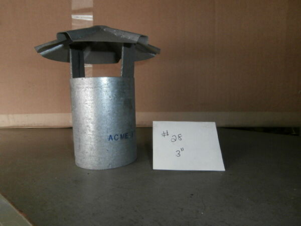 3 inch stove pipe Galvanized Chimney Cap