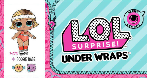 LOL SURPRISE DOLL EYE SPY UNDER WRAPS SERIES 4 WAVE 2 BOOGIE BABE NEW SEALED!