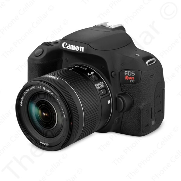 Canon EOS Rebel T7i DSLR Camera with EF S 18 55mm IS STM Lens Black