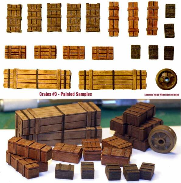 1 35 Universal Wooden Crates #3 Value Gear Details 19pcs Resin Stowage
