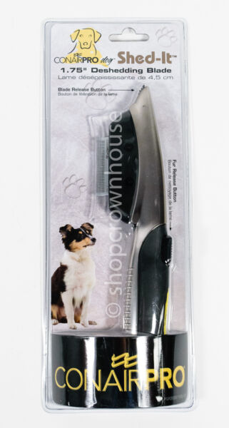 Conair Pro DOG Shed It 1.75quot; Deshedding Comb Blade Pet Grooming Tool Small Size $6.50