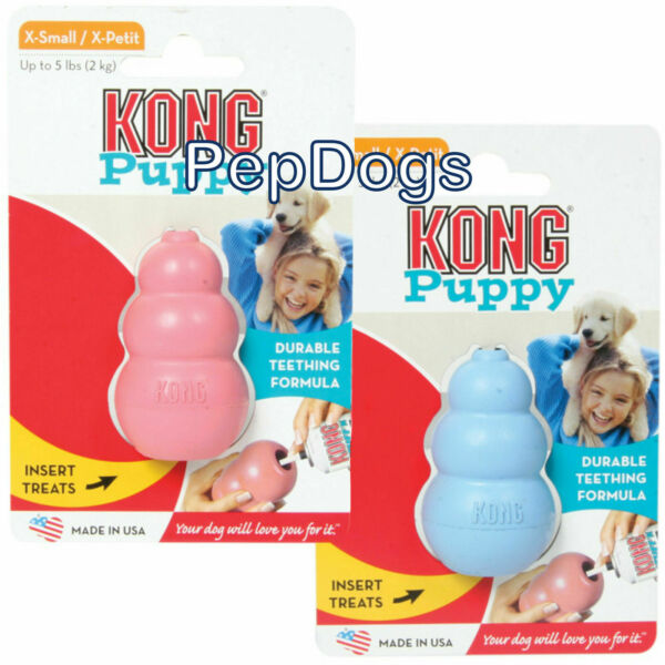 KONG Puppy X-SMALL Rubber Teething Dog Treat Chew Toy EXTRA SMALL KP4