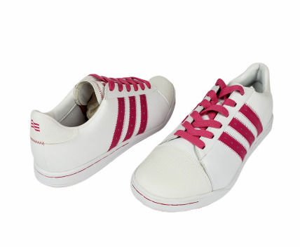 Sample Adidas Classic Casual Womens Golf Shoes White Fuchsia Pink Size 9