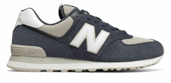 New Balance Men's 574 Shoes Grey With Grey