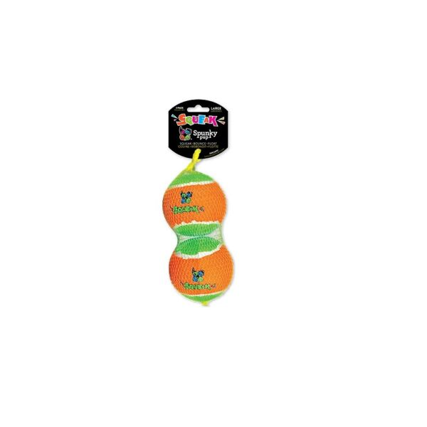 Squeaky Tennis Balls for Dog Toy 2pk Large