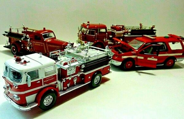 quot;LOT x 6 VARIOUS DIE CAST FIRE APPARATUS VEHICLES... SEE DESCRIPTION quot;