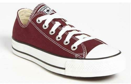 CONVERSE Mens/Womens Shoes Chuck Taylor ALL STAR Maroon+Red Sneakers 139794F NEW