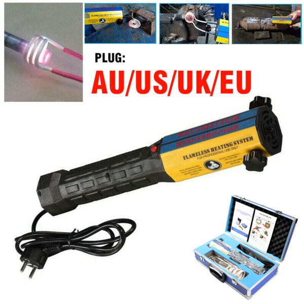 110V220V 1000W Mini Ductor Induction Heater Handheld High Frequency + 6 Coils