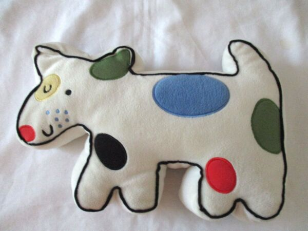 Cartoon Dog Shaped Plush Pillow Colored Spots 13 x 10 $7.50