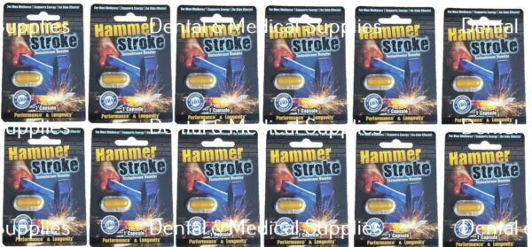 12 PILLS HAMMER STROKE STRONG BACK REPLACEMENT MALE SEX ENHANCEMENT FREE SHIPING