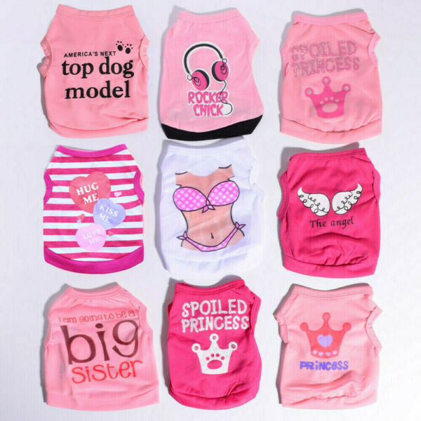 9PCS Wholesale Lots Girl Dog Clothes Small Pet Summer Shirt for Teacup Chihuahua $21.50