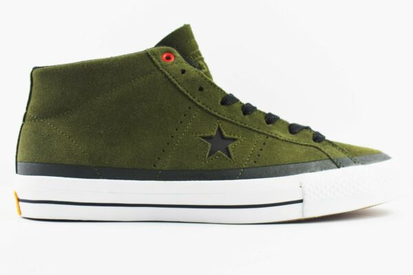 Converse One Star Mid Pro Mens Size 9.5 Shoes Pale Green 153474C