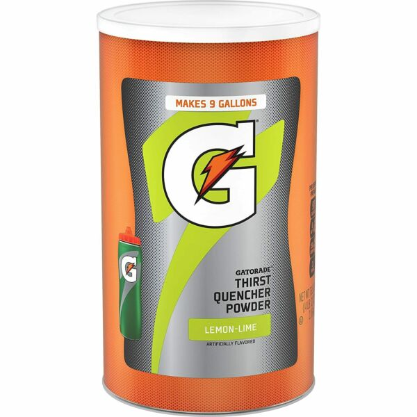 Gatorade Thirst Quencher Powder Lemon Flavour 76.5 oz. 9 Gallons TOP Canister $17.97