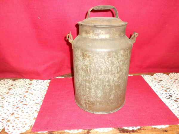 UNUSUAL  ANTIQUE METAL BEER PAIL!   A+ COND!   8 QT MILLER GOLDEN!   BIN!  LK!