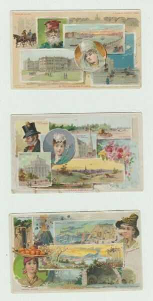 1891 Lot of 3 Arbuckle Coffee trade cards