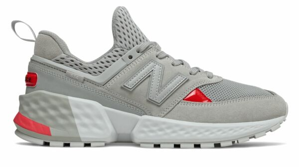New Balance Men's 574 Sport Shoes Grey With Red