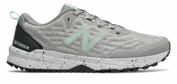 New Balance Women's NITREL v3 Trail Shoes Grey with Green