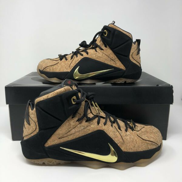 Nike LeBron 12 XII EXT King's Cork Size 11 768829-100 kyrie bhm what the wheat