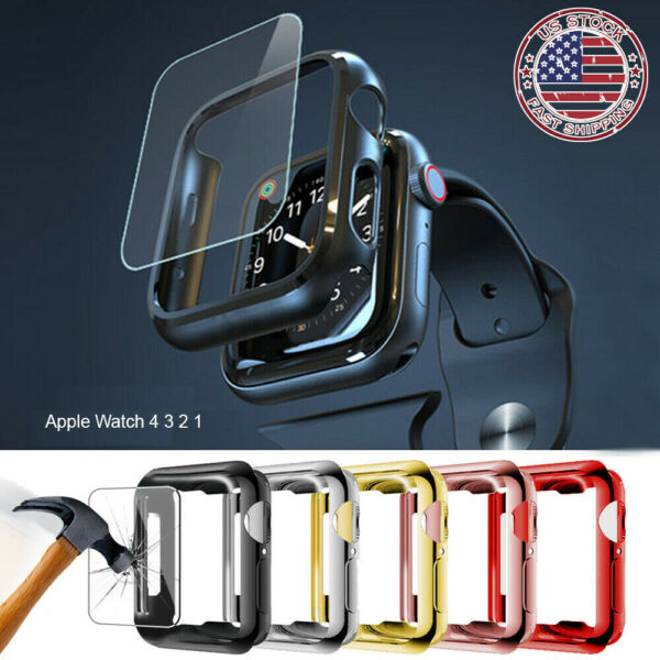 For Apple Watch 5 4 3 2 Full Case Cover Screen Protector iWatch 38 42mm 40 44mm $3.89