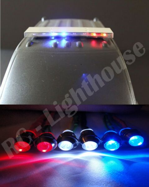 RC 1 10 Scale Police LED Light Bar kit PL#4 with headlights and brake lights#25