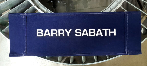Ghost In The Machine ('93) Canvas Seat Back Made for Barry Sabath - Co-Producer