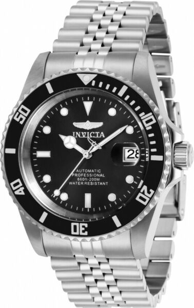 Invicta 29178 42MM Pro Diver Automatic Men's 200M Black Stainless Steel Watch