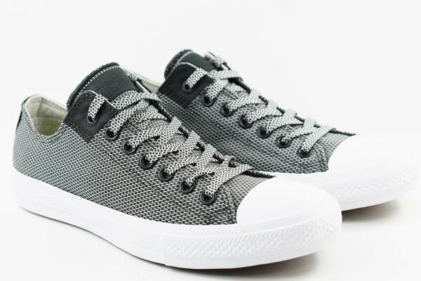 Converse CTAS II Chuck Taylor All Star Mens Size 12 Basketweave Grey 155539C