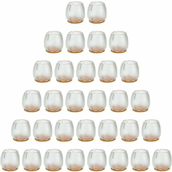 32Pack Anwenk Chair Leg Floor Protectors For 1 To 1-316 Inch Chair LegsRound S