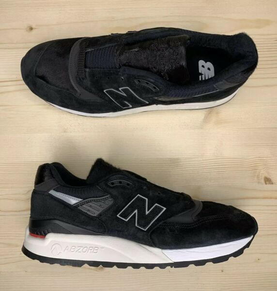 New Balance 998 Made in USA Pony Hair Black White Men's Shoes M998TCB Multi Size