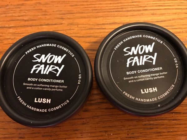 LUSH Handmade Cosmetics SNOW FAIRY Body Conditioner Lotion Lot of Two 1.5 oz NEW