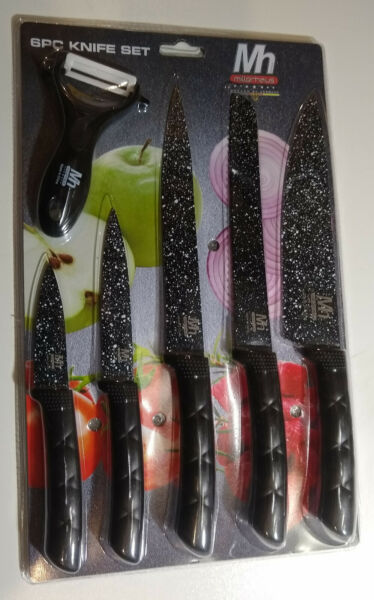 Millerhaus 6 Piece Kitchen Knife Set Carving Slicer Bread Utility Paring