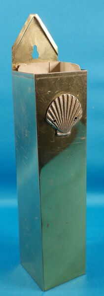 Brass Shell Fireplace Match Holder 13