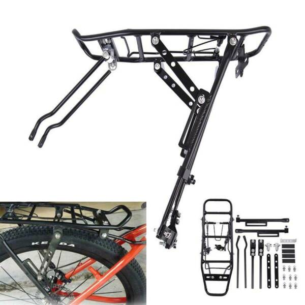 Bicycle Mountain Bike Rear Rack Seat Post Mount 110lbs Luggage Carrier Aluminum $20.76