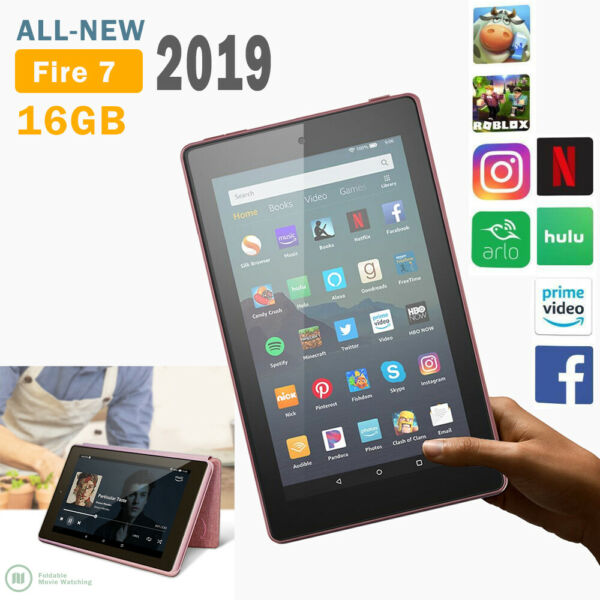 2019 Amazon Kindle Fire 7 Tablet pc (9th Generation7'' display) 16GB with Alexa